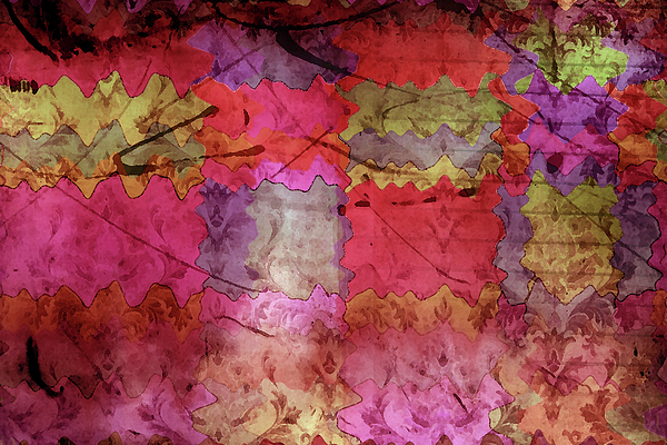 Abstract Art Digital Art - Patchwork Promises by Bonnie Bruno