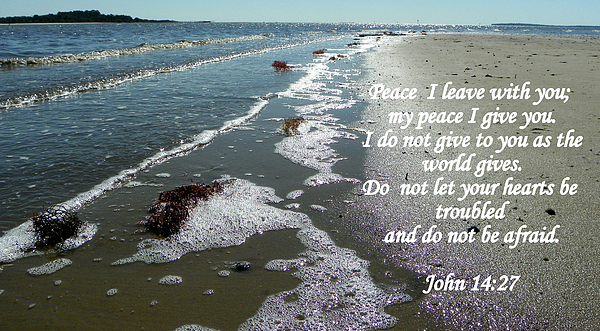Scripture Photograph - Peace I Leave You by Sheri McLeroy