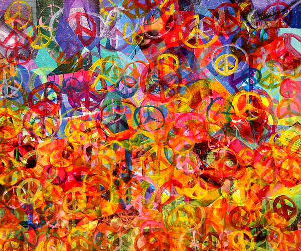 Abstract Art Painting - Peace Please by Jerry Hanks