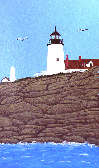 Lighthouses Painting - Pemaquid Point Lighthouse Painting by Frederic Kohli