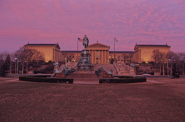 Philadelphia Art Museum Photograph - Philadelphia Art Museum At Dusk by Kenneth Garrett