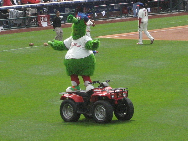 Phillis Photograph - Phillie Phanatic by Jennifer  Sweet