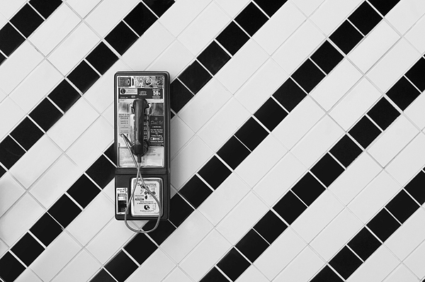 Phone Photograph - Phone And Lines by Dan Holm