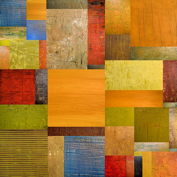 Textural Painting - Pieces Project Ll by Michelle Calkins