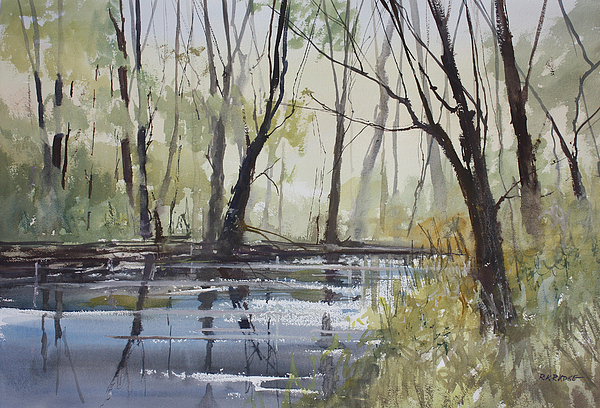 Pine River Reflections Painting