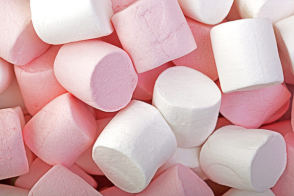 Background Photograph - Pink And White Marshmallows by Jane Rix