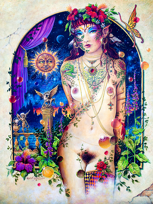 Goddess Painting - Pixie Queen by Keith Stillwagon