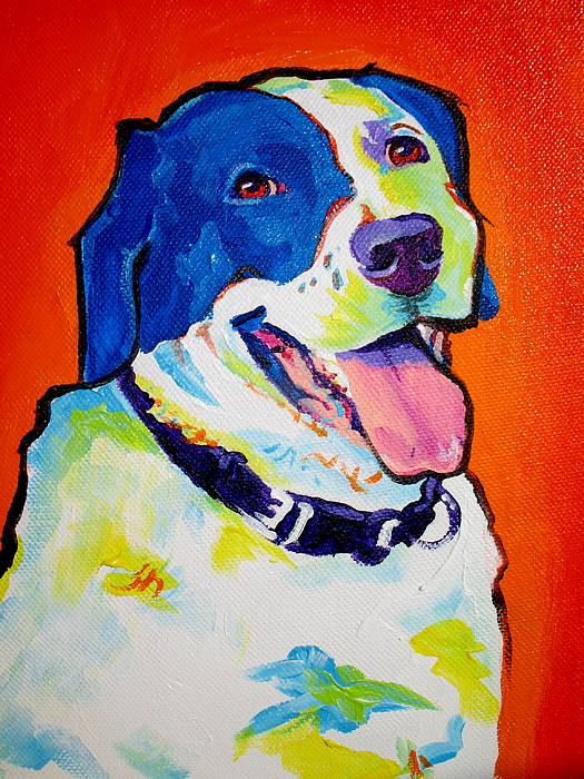 Pointer Painting - Pointer - Causi by Alicia VanNoy Call