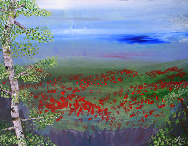 Poppies Painting - Poppy Valley by Jamie Hartley