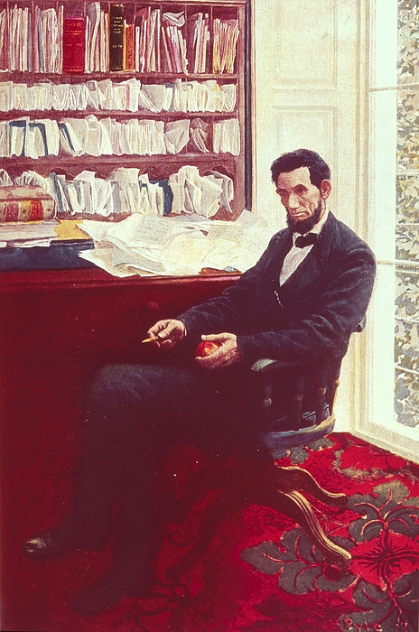Portrait Of Abraham Lincoln (colour Litho) By Howard Pyle (1853-1911) Painting - Portrait Of Abraham Lincoln by Howard Pyle