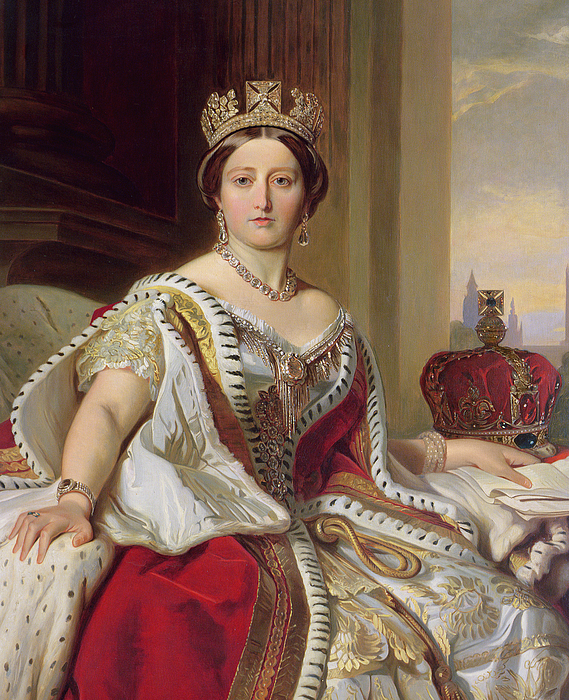 Portrait Of Queen Victoria Painting
