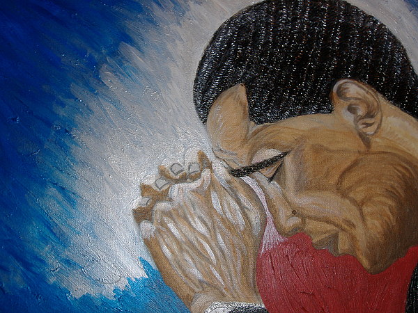 Portraits  Painting - Pray For Peace by Keenya  Woods