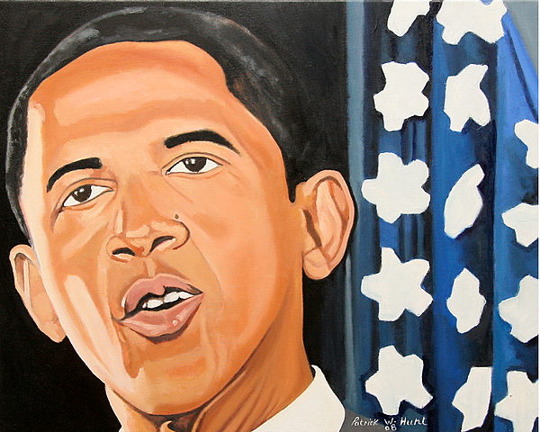 Obama Paintings Painting - President Elect Obama by Patrick Hunt