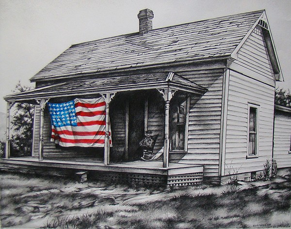 Flag Mixed Media - Pride by Michael Lee Summers