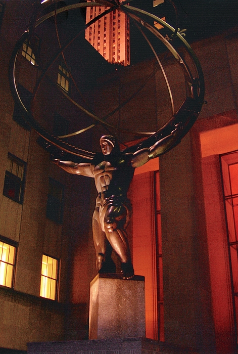 Rockefeller Center Photograph - Prometheus At Night by Alton  Brothers