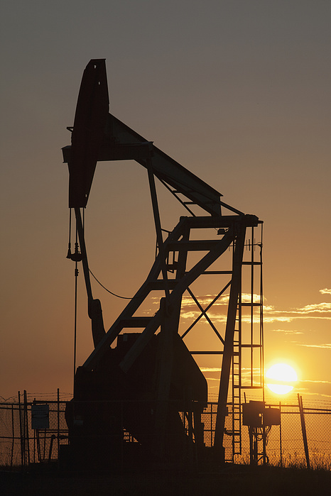 Pumpjack Silhouette Photograph
