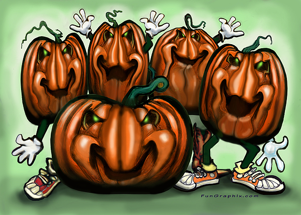 Pumpkin Party Painting