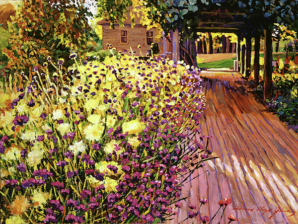 Impressionism Painting - Purple And Gold by David Lloyd Glover