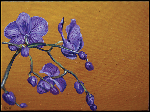 Flowers Painting - Purple Orchids by Edward Williams
