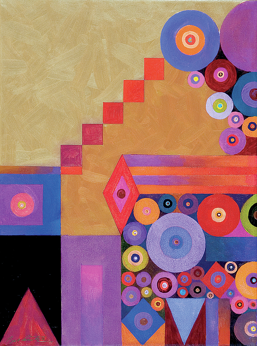 Abstract Painting - Pythagorus Abstract I by Bob Coonts