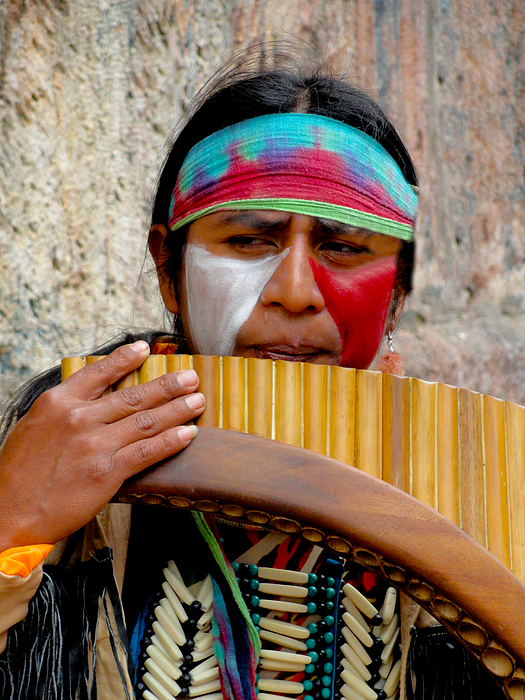 Al Bourassa Photograph - Quechuan Pan Flute Player by Al Bourassa