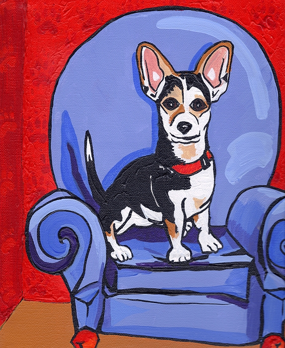 Dog Painting - Queen Lucy by Laura Brightwood