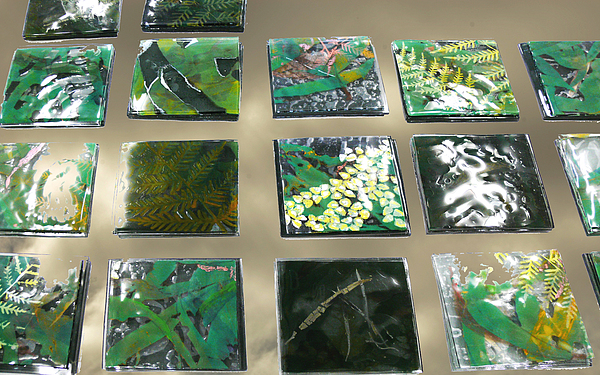 Logging Glass Art - Rainforest Tile Prints by Sarah King