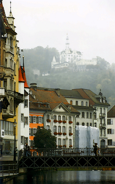 Lucerne Photograph - Rainy Day In Lucerne by Linda  Parker