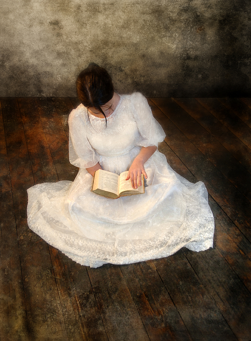 Girl Photograph - Reading  by Jill Battaglia