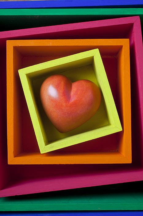 Red Heart In Box Photograph