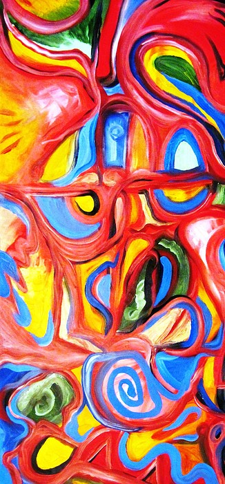 Red Lust Painting - Red Lust by Alfredo Dane Llana