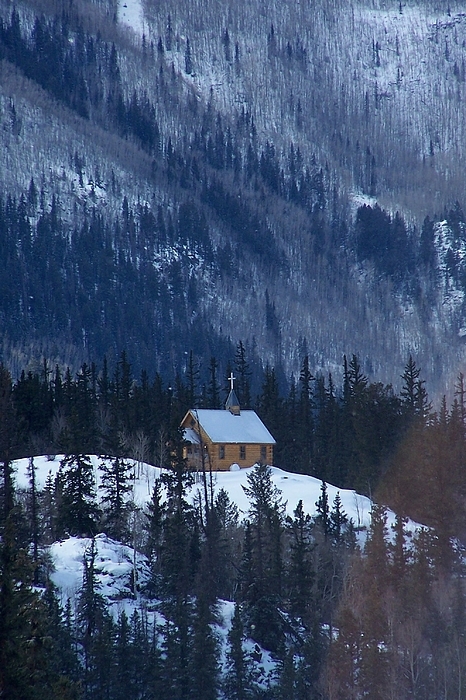 Landscape Photograph - Redcloud Chapel In Blue by David Ackerson