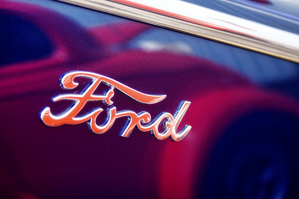 Ford Photograph - Reflections In An Old Ford Automobile by Carol Leigh