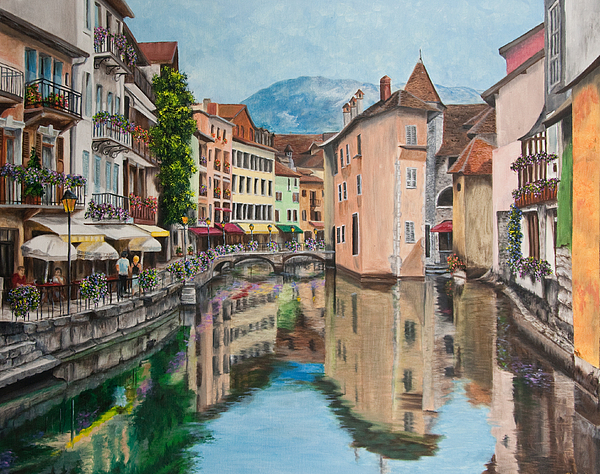 Reflections Of Annecy Painting