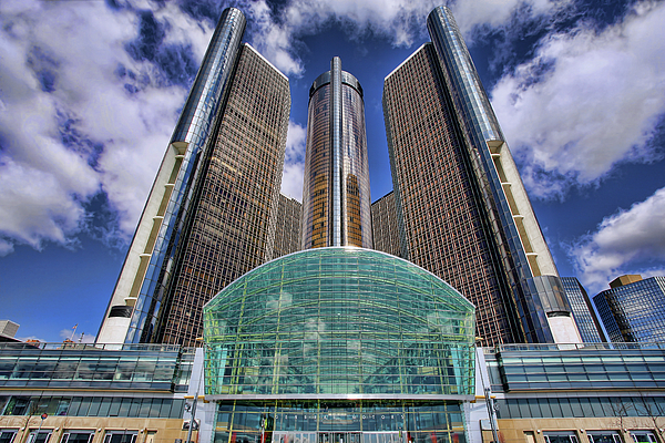 Rencen Photograph - Rencen Detroit Gm Renaissance Center by Gordon Dean II