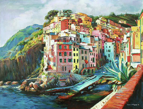Riomaggiore Italy Painting