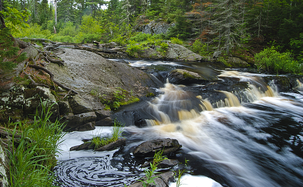 Tidal Photograph - River Flow V by Sean Holmquist