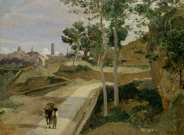 Road Painting - Road From Volterra by Jean Baptiste Camille Corot