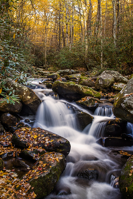 Roaring Fork Waterfall At Autumn Photograph