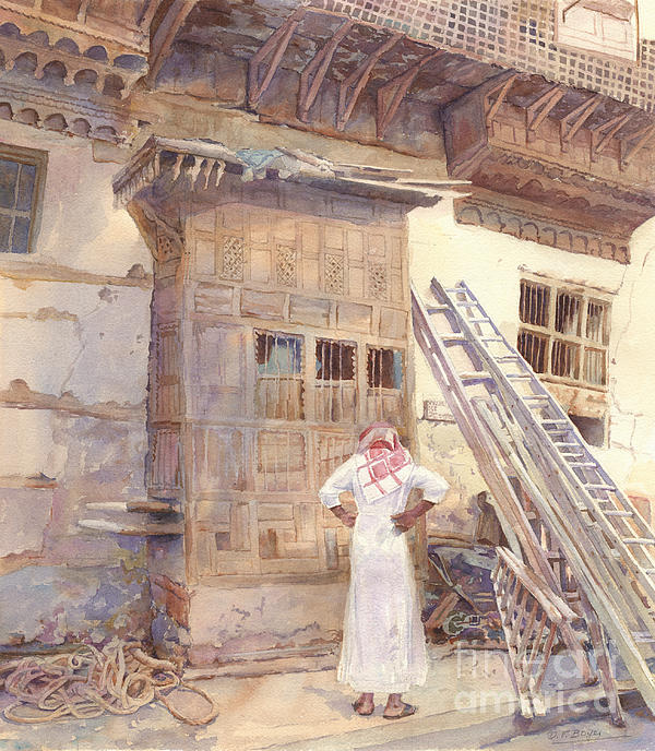 Architecture Painting - Rochan With Figure by Dorothy Boyer