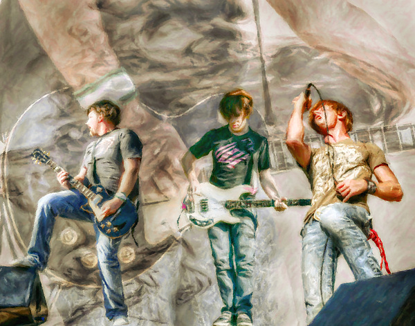 Rock And Roll Band Version 2 Digital Art