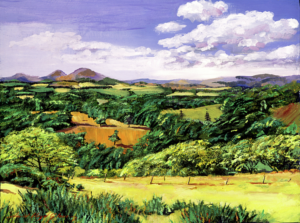 Rolling Hills Of Scotland Painting