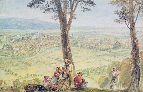 Rome Painting - Rome From Monte Mario by Joseph Mallord William Turner