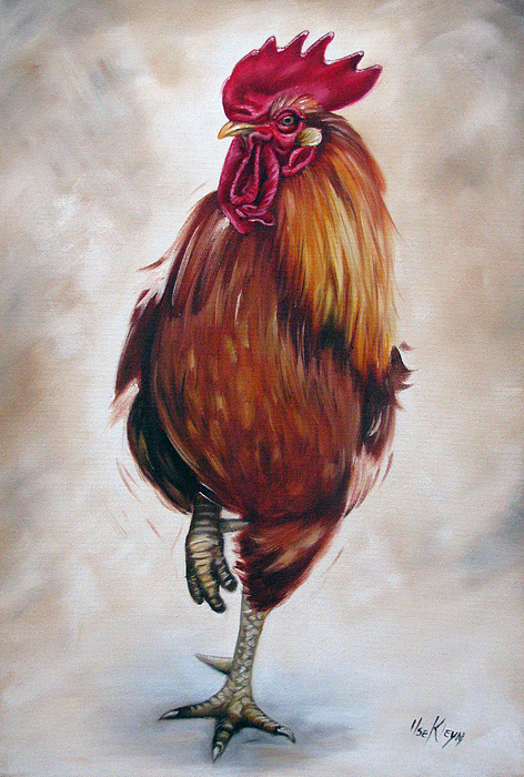 Bird Painting - Rooster 17 Of 10 by Ilse Kleyn