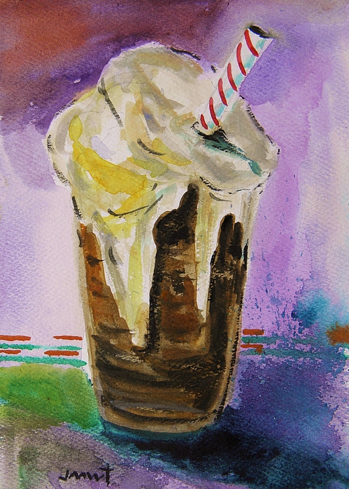 Straw Painting - Root Beer Float by John Williams