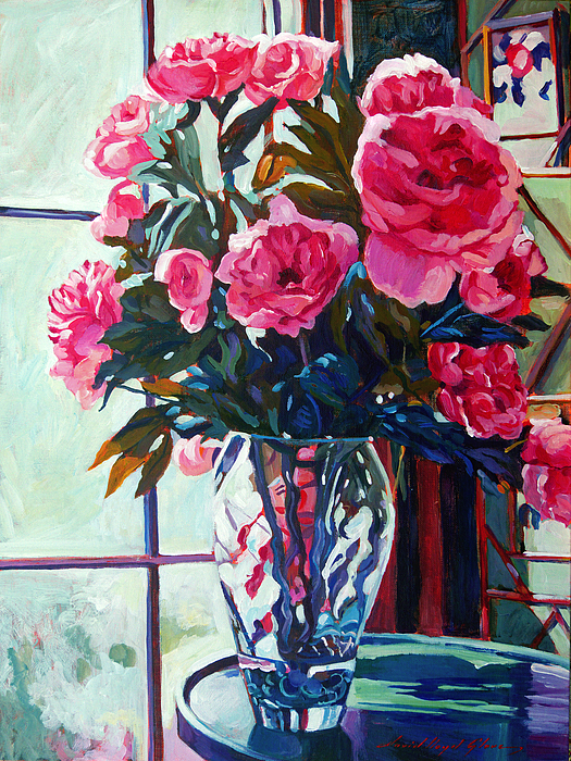 Still Life Painting - Rose Symphony by David Lloyd Glover