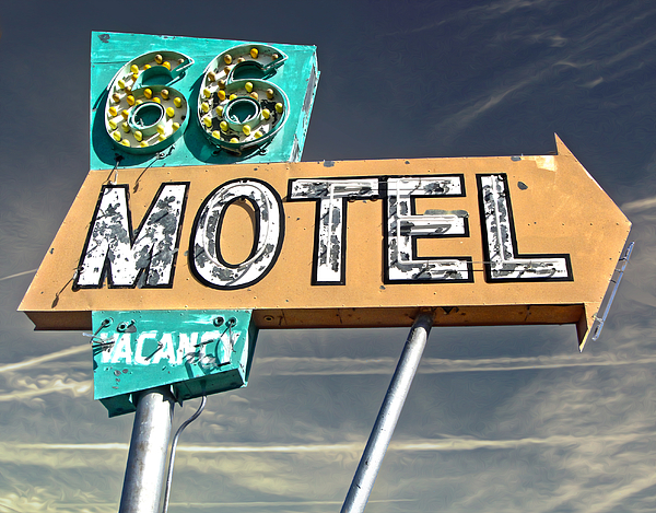 Route 66 Motel Sign Painting - Route 66 Motel Sign by Gregory Dyer