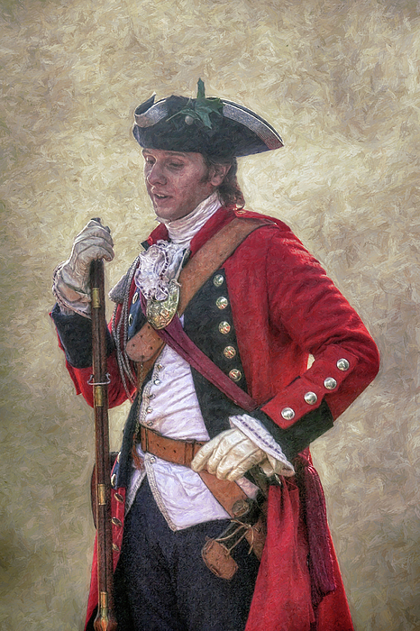 Military Digital Art - Royal Americans Officer Portrait  by Randy Steele