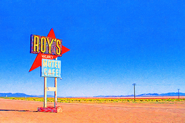 Roys Motel Cafe Photograph - Roys Motel And Cafe by Wingsdomain Art and Photography