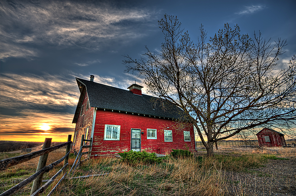 Barn Photograph - Rustic Barn Bathed In Colors by Shane Linke